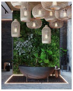 projekt łazienki inspirowanej naturą