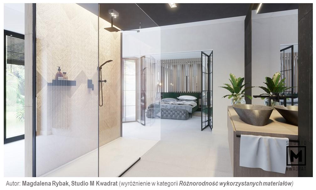 sypialnia iłazienka inspirowana naturą