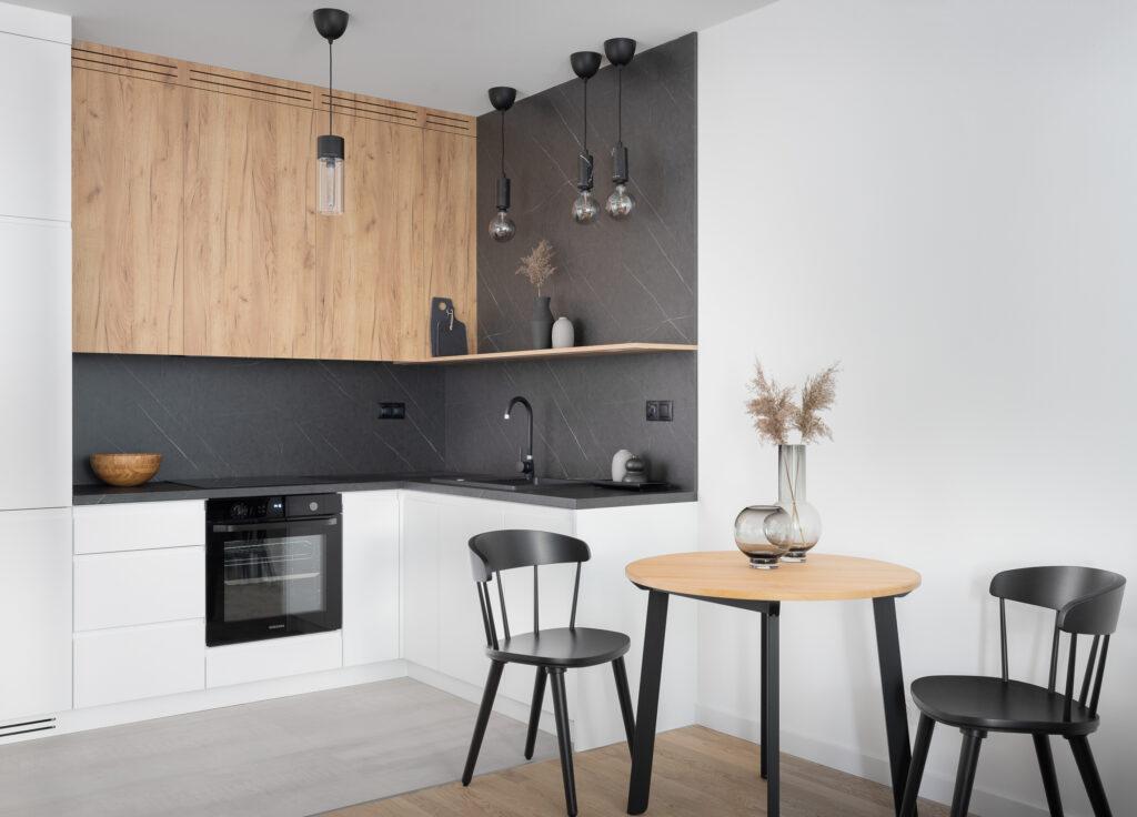 aneks kuchenny w stylu skandynawskim