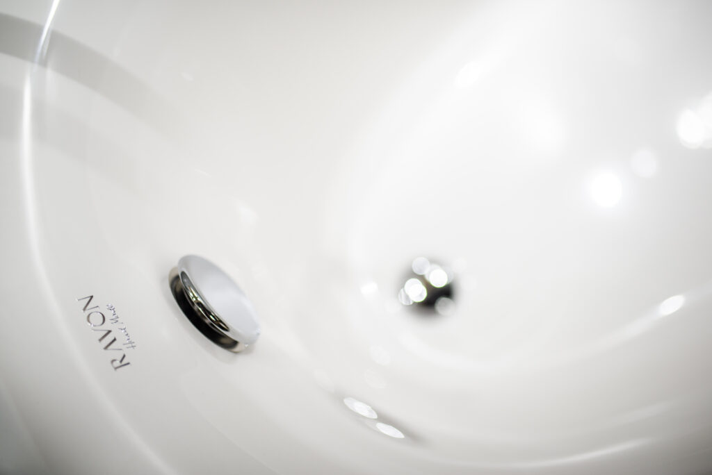 okrągła umywalka