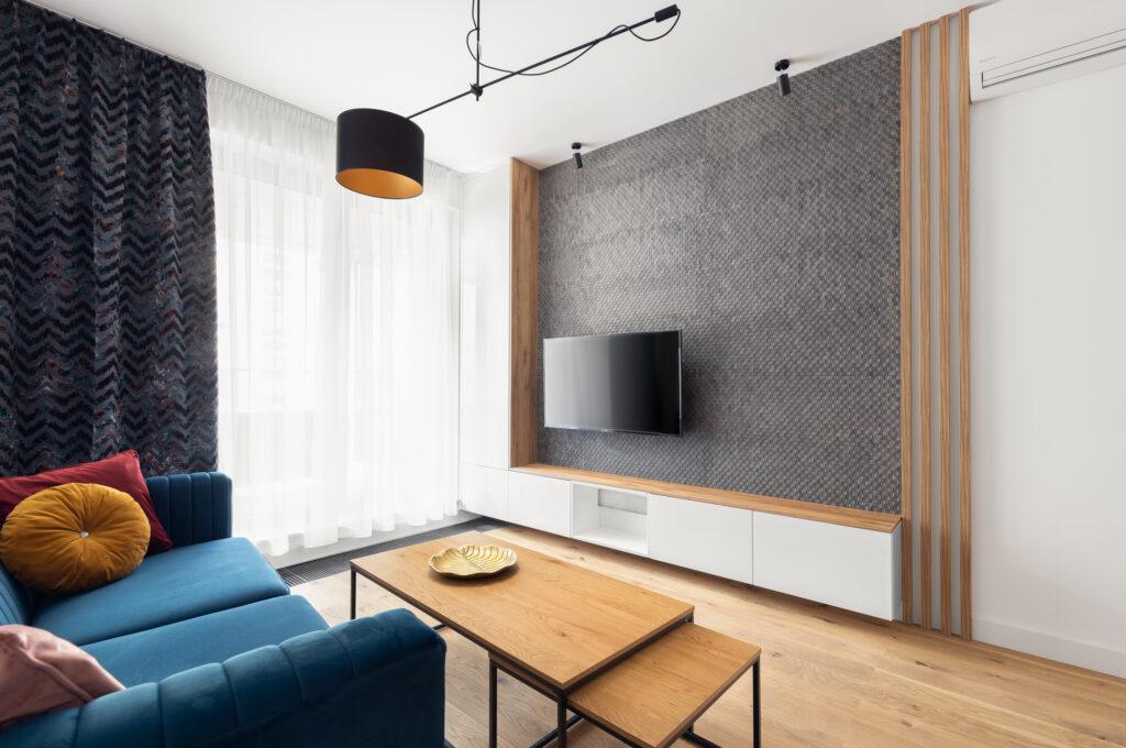 dekoracyjna ściana telewizyjna